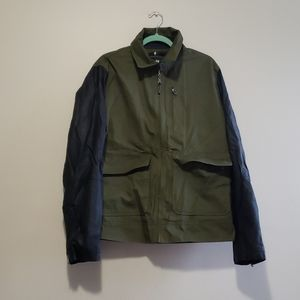 H&M Men's Green and Black Sleeve Utility Jacket